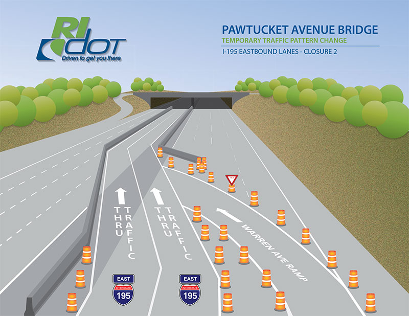 RIDOT Featured Detour Map