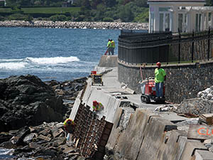 Cliff Walk restoration work underway